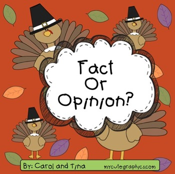 Thanksgiving Fact or Opinion