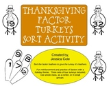Thanksgiving Factor Turkeys (CCSS - Sort Activity)