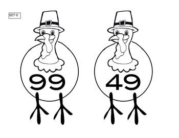 Thanksgiving Factor Turkeys (CCSS - Sort Activity)
