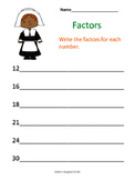 Thanksgiving Factors Freebie