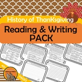 HISTORY of THANKSGIVING READING and WRITING PACK