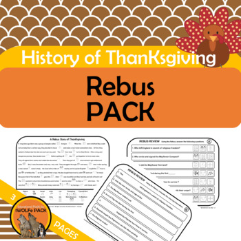 HISTORY OF THANKSGIVING REBUS PACK