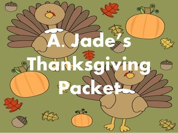 Thanksgiving/Fall Activity No-Prep Pack!