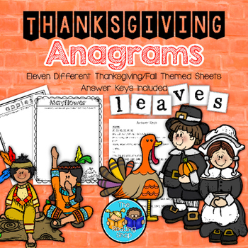 Thanksgiving Word Puzzles - Anagrams