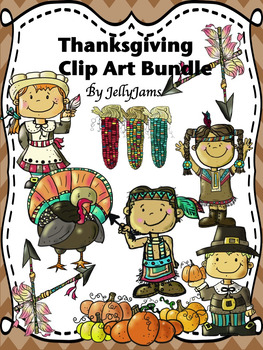 Thanksgiving/Fall/Autumn Clip Art By JellyJams ~No Prep!