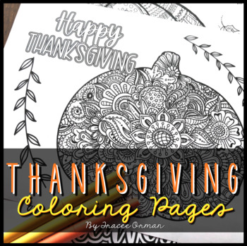 Thanksgiving & Fall (Autumn) Coloring Pages