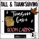 Thanksgiving & Fall Boom Cards™ Treasure Game DISTANCE LEARNING Speech Therapy