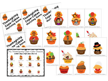 Thanksgiving/Fall Cope-Cakes Matching Game