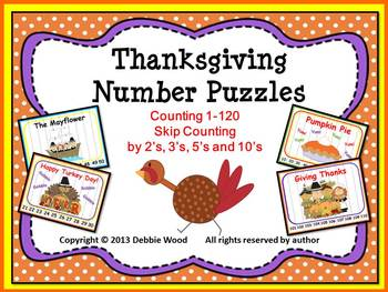 Thanksgiving Fall Counting Puzzles