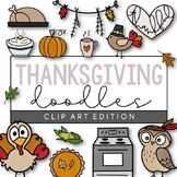 Thanksgiving - Fall Doodles | Clip Art [IN COLOR!]