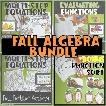 Thanksgiving/Fall Equations and Functions