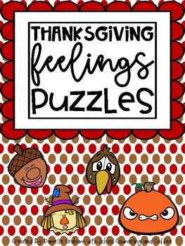 Thanksgiving/Fall Feelings Puzzles Elementary School Counseling Emotions Centers