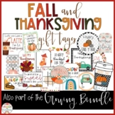 Thanksgiving & Fall GIFT TAGS