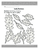 Thanksgiving Fall Leafy Business Coloring Page Grade K