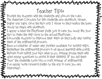 Thanksgiving Fall Mayflower STEM Engineering Challenge