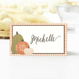 Thanksgiving & Fall Place and Tent Cards with Pumpkins on