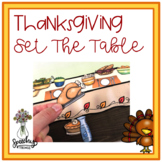 Thanksgiving and Fall Set the Table Activity - Speech and