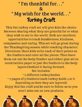 Thanksgiving Fall Turkey Craft