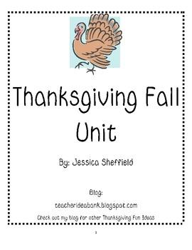 Thanksgiving Fall Unit