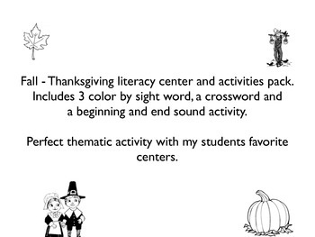 Thanksgiving - Fall centers pack