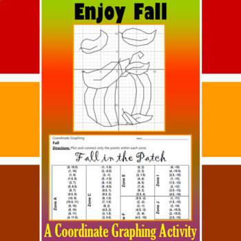 Thanksgiving - Fall in the Patch - A Coordinate Graphing Activity