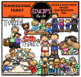 Thanksgiving Family Clip Art Bundle {Educlips Clipart}