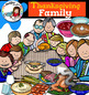 Thanksgiving Family Clip Art Bundle (and first Thanksgiving)