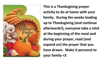 Thanksgiving Family Prayer activity