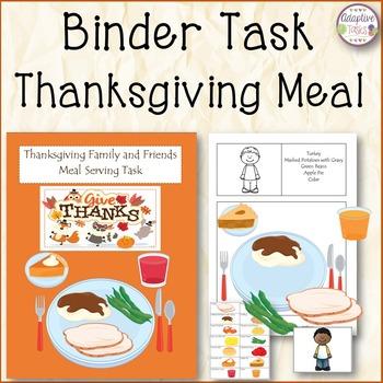 BINDER TASK Thanksgiving Meal