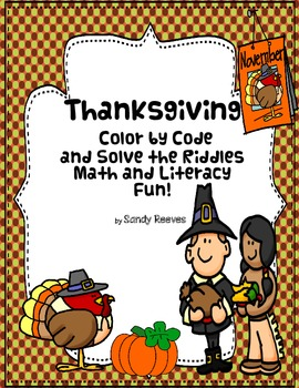Thanksgiving Fast and Easy Printables Color by Number and Riddles