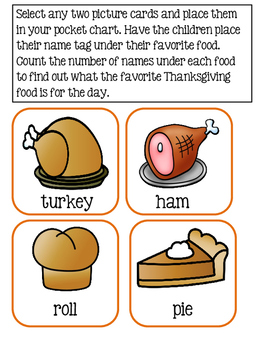 Thanksgiving Favorites ~ Collecting Data