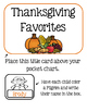 Thanksgiving Favorites - Collecting Data