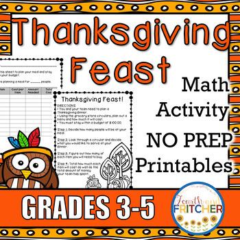 Thanksgiving Feast: A Math Activity