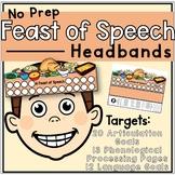 Thanksgiving Speech & Language: No Prep Thanksgiving Headbands
