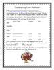 Thanksgiving Feast Challenge Webquest