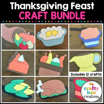 Thanksgiving Feast Cut and Paste Set