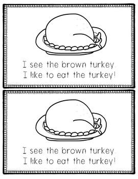 Thanksgiving Feast Easy Reader