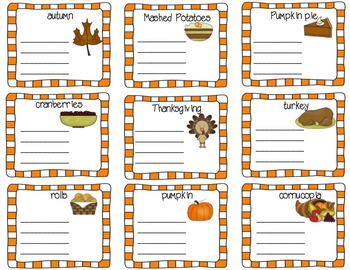 THANKSGIVING WRITING AND GRAPHING ACTIVITIES