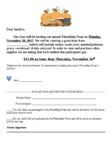 Thanksgiving Feast Letter