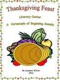 Thanksgiving Feast Literacy Center by Suzanne Wilson