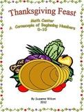 Thanksgiving Feast Math Center by Suzanne Wilson