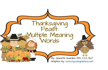 Thanksgiving Feast Multiple Meaning Words