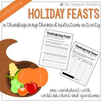 Thanksgiving Feast - Nutrition Activity