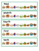 Thanksgiving Feast Ordinal Number Clip Cards