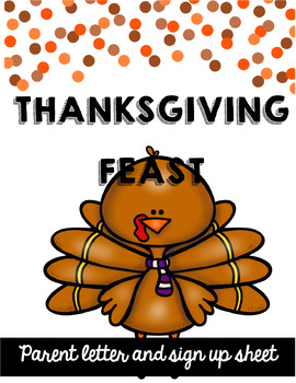 Thanksgiving Feast Parent Letter