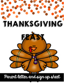 Thanksgiving Feast Parent Letter