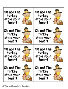 Thanksgiving Feast Phonics: CVC Words Pack