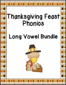 Thanksgiving Feast Phonics: Long Vowel Bundle