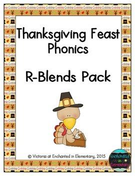 Thanksgiving Feast Phonics: R-Blends Pack