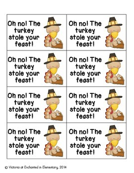 Thanksgiving Feast Phonics: Short E Pack